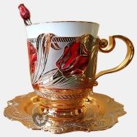 Кофейный набор Златоуст Тюльпан