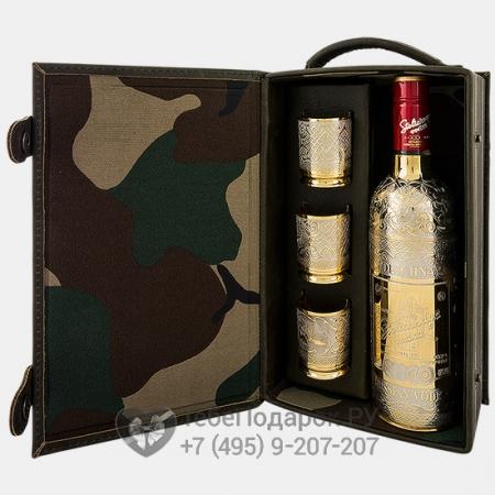 Набор водочный Боекомплект - Штоф с бутылкой и три стакана в кейсе