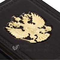 Визитница настольная Россия златоглавая черная