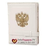 Ежедневник А5 Россия Златоглавая белый