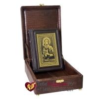 Библия в коробе - книга в кожаном переплете