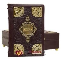 Коран в коробе - книга в кожаном переплете