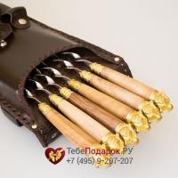 Шашлычный набор Стрелецкий на 6 шампуров