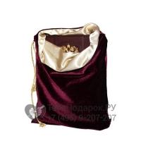 Подарочная упаковка - Мешочек 4 бордо