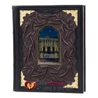 Санкт-Петербург на английском языке - книга в кожаном переплете